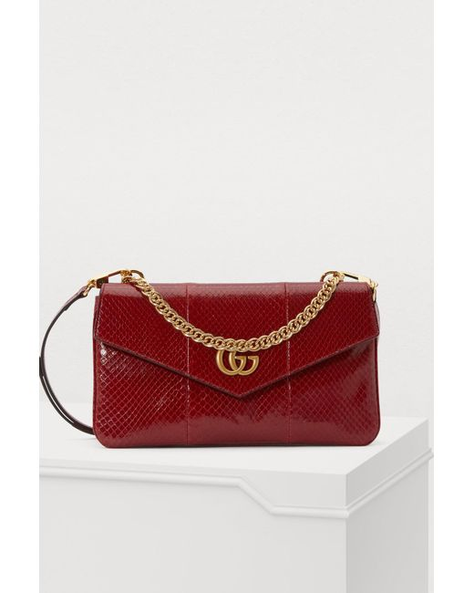 4d670a815dee7 Gucci - Red Double Shoulder Bag - Lyst ...