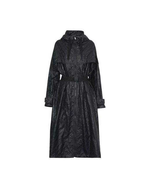 Moncler Black Bouteille Embossed Nylon Trench Coat