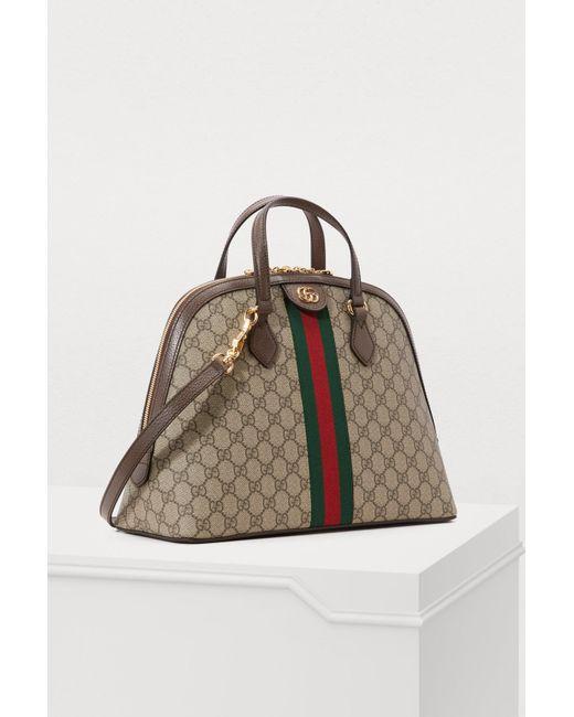e61bd12fe218 ... Gucci - Natural Ophidia GG Supreme Shoulder Bag - Lyst ...