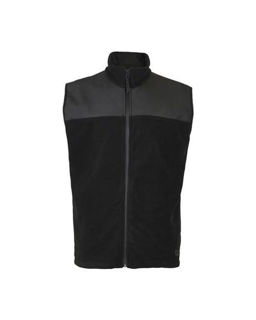 Rains Black Fleece Vest for men