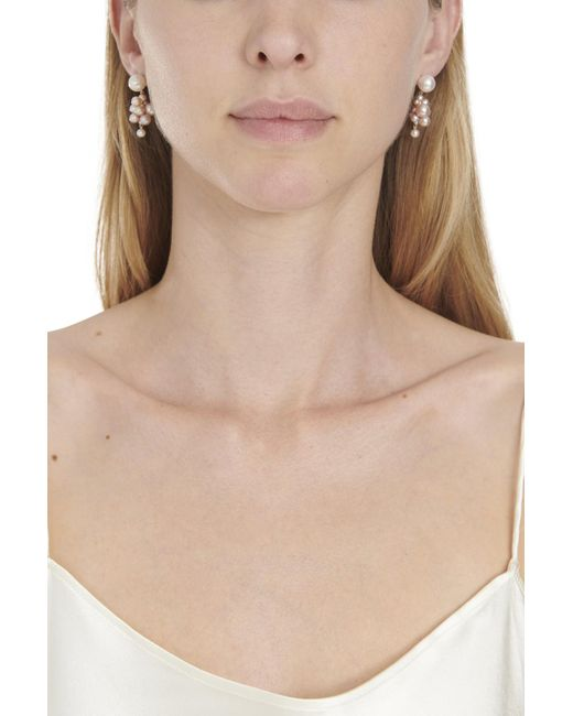 Sophie Bille Brahe White Botticelli Earrings