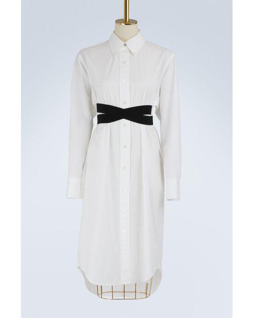 Proenza Schouler - White Belted Shirt Dress - Lyst