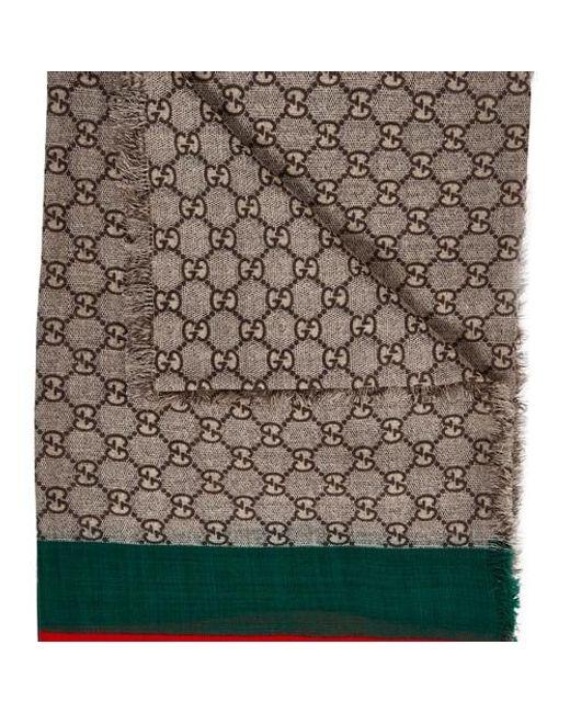 Echarpe en laine Gucci pour homme en coloris Multicolor