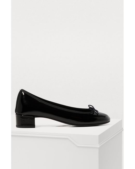Repetto - Black Lou Low-heeled Ballet Pumps - Lyst