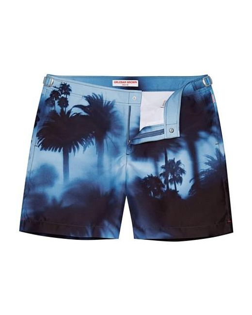Orlebar Brown Blue Bulldog Photographic Swim Shorts for men