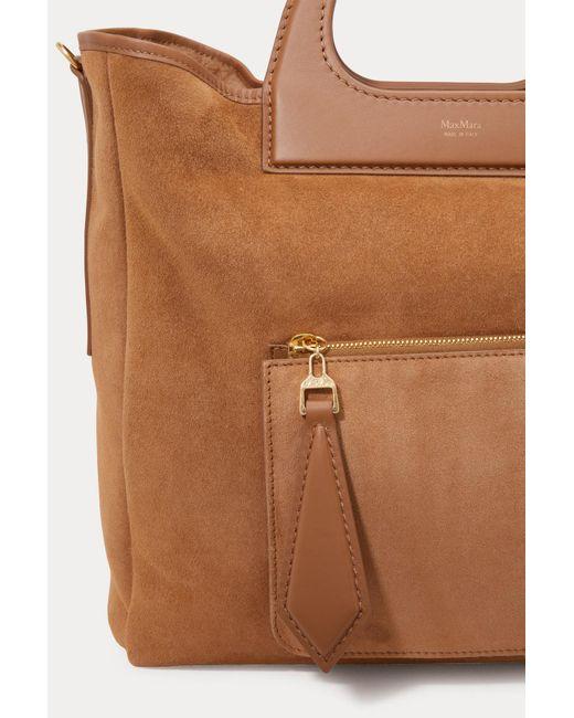 9fa16d91e0dd ... Max Mara - Brown Grace Reversible Bag - Lyst ...