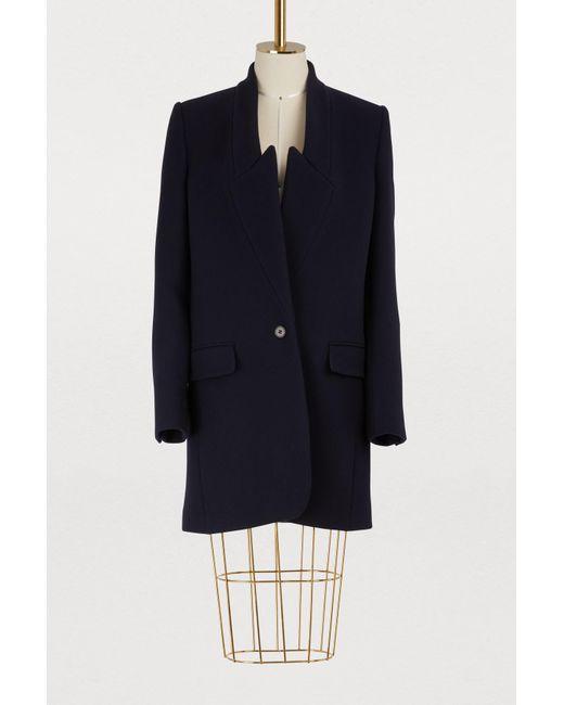 Stella McCartney - Blue Kassandra Wool Coat - Lyst