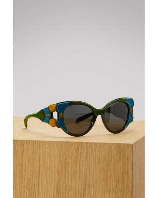 Prada - Multicolor Tapestry Sunglasses - Lyst