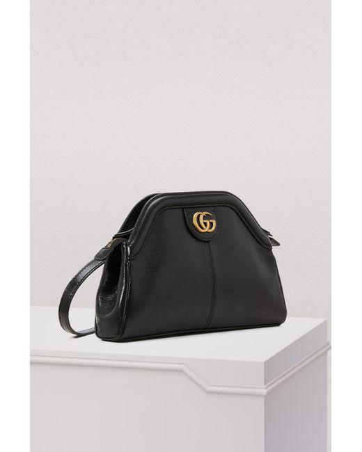 512ef06a9ec ... Gucci - Black Linea S Sm Crossbody Bag - Lyst ...