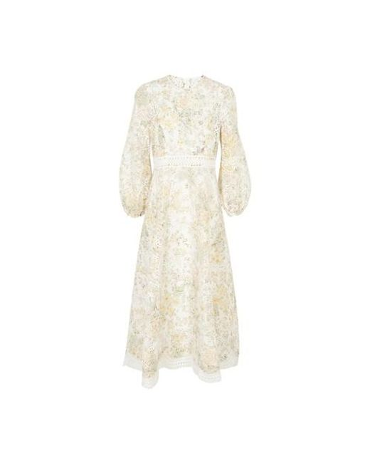 Zimmermann Natural Amelie Embroidered Long Dress