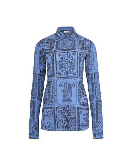 Acne Blue Printed Shirt