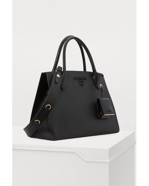 6c2741d6a6 ... Prada - Black Monochrome Handbag - Lyst ...