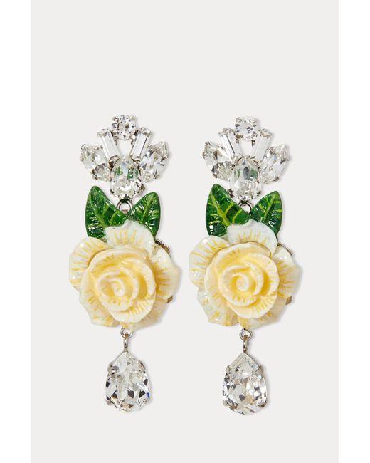 Dolce & Gabbana - White Flower Earrings - Lyst