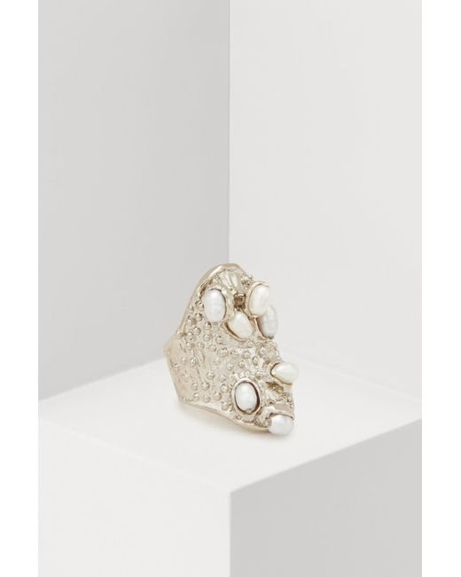 Givenchy - Metallic Moon Ring - Lyst