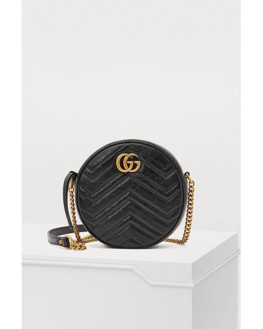 4bd50163479 Gucci - Black GG Marmont Crossbody Bag - Lyst ...