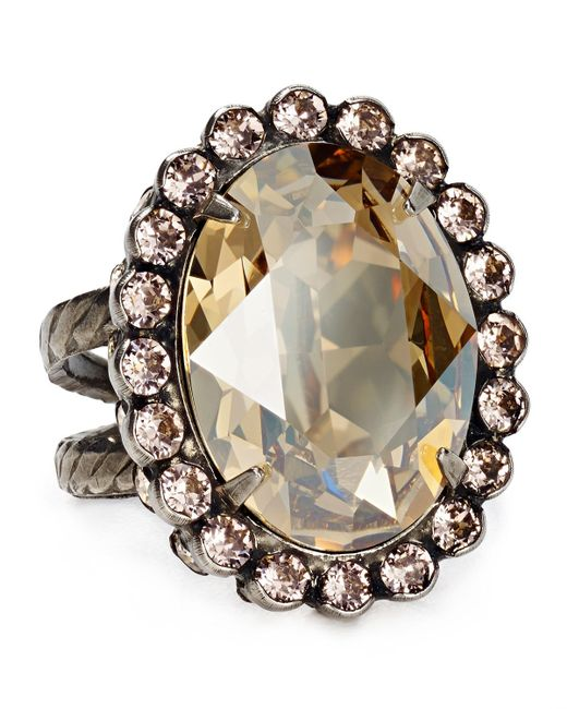 Sorrelli | Metallic Oval Cut Ring | Lyst