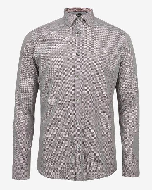 Ted Baker | Red Debonair Geo Print Shirt for Men | Lyst