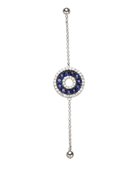 Effy | Blue Sapphire, Diamond And 14k White Gold Bracelet | Lyst