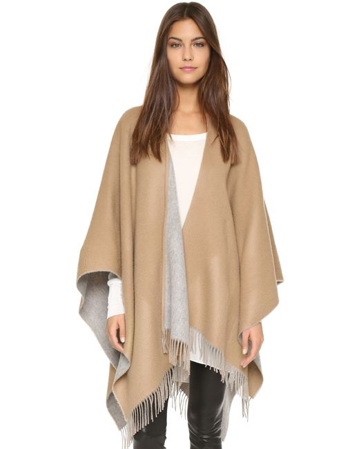 Rag & Bone | Natural Double Sided Poncho - Black | Lyst