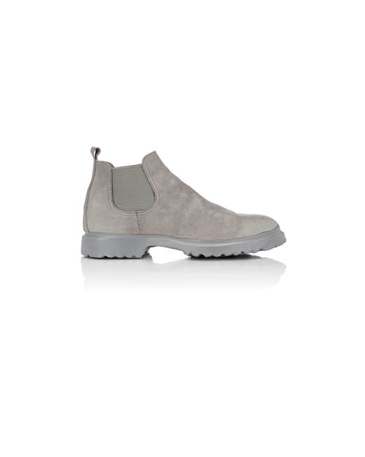 elia maurizi men 39 s dipped sole chelsea boots in gray for men lyst. Black Bedroom Furniture Sets. Home Design Ideas