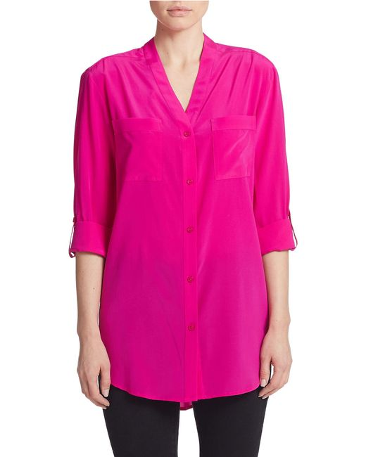 Silk Blouses For Women Silk blouses for women are light, airy and can be found in styles appropriate for the most casual of outfits to those that are very formal and dressy. For a super casual look, consider a sleeveless button down blouse.