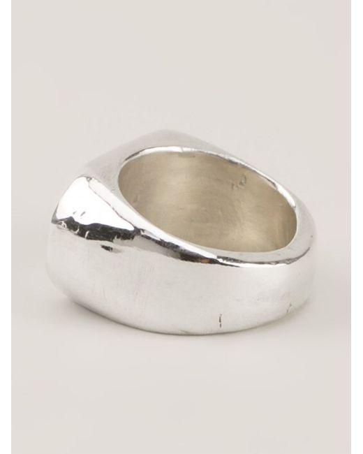 Henson   Metallic Chunky Rectangle Ring   Lyst