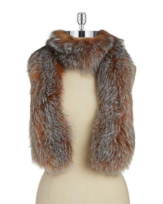 surell fox fur scarf in brown lyst
