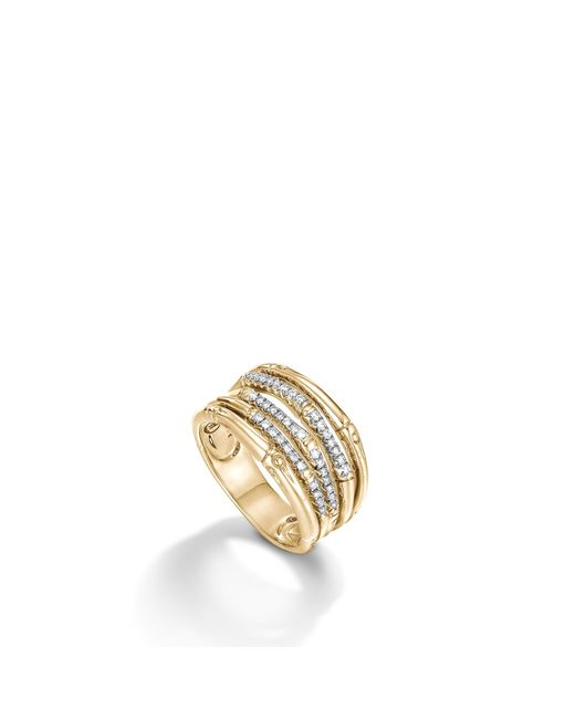 John Hardy | Multicolor Bamboo Ring With Diamonds | Lyst