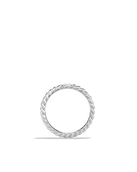 David Yurman | Metallic Dy Unity Cable Wedding Band In Platinum, 2mm | Lyst