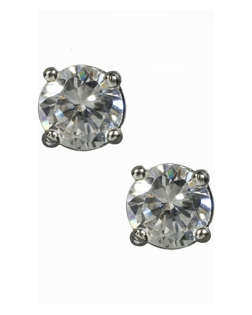 Express | Metallic Small Solitaire Earrings | Lyst