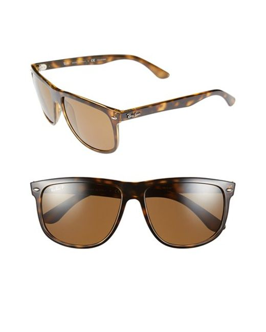 Ray-Ban | Brown 'boyfriend' 60mm Polarized Sunglasses for Men | Lyst