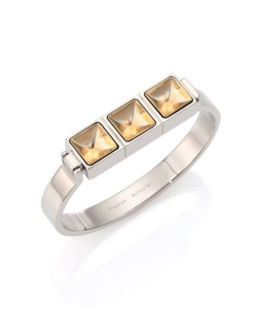 Proenza Schouler | Metallic Cube Bangle Bracelet | Lyst