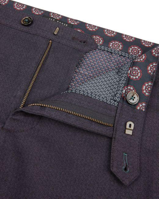 Ted Baker   Purple Mantrap Slim Fit Mini Design Trousers for Men   Lyst
