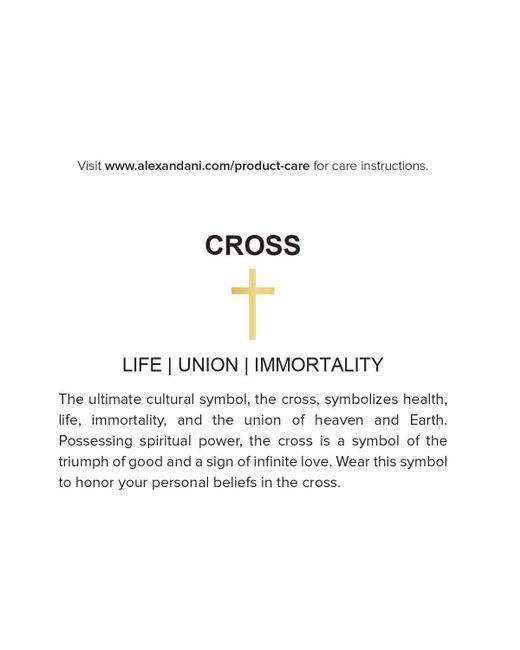 ALEX AND ANI | Metallic Precious Metals Symbolic Cross Pull Chain Bracelet | Lyst