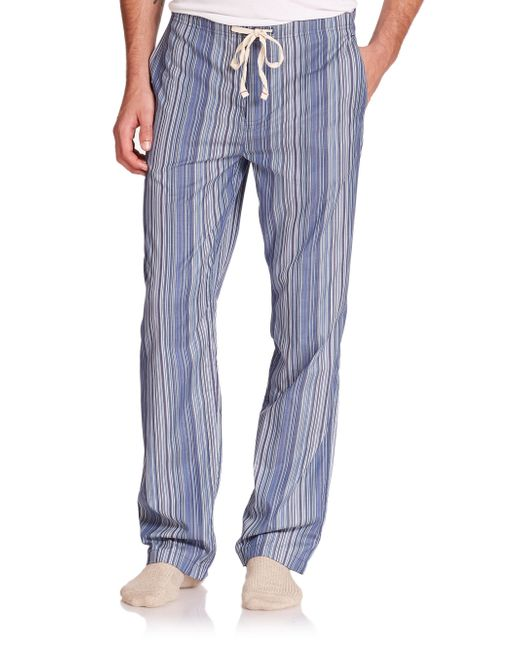 Paul Smith | Blue Striped Cotton Pajama Pants for Men | Lyst