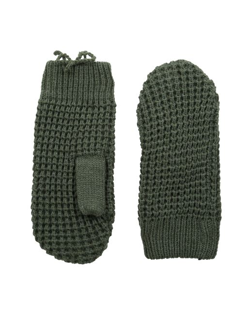 Hat Attack | Green Waffle Stitch Mitten With Lining | Lyst