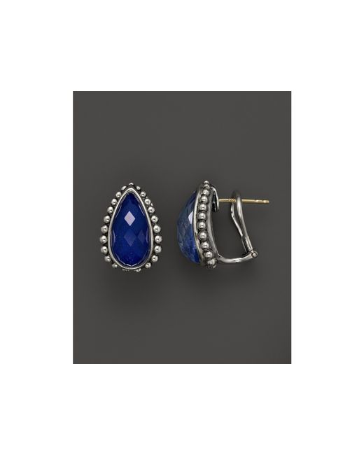 Lagos   Blue Lapis Doublet Half Hoop Earrings   Lyst