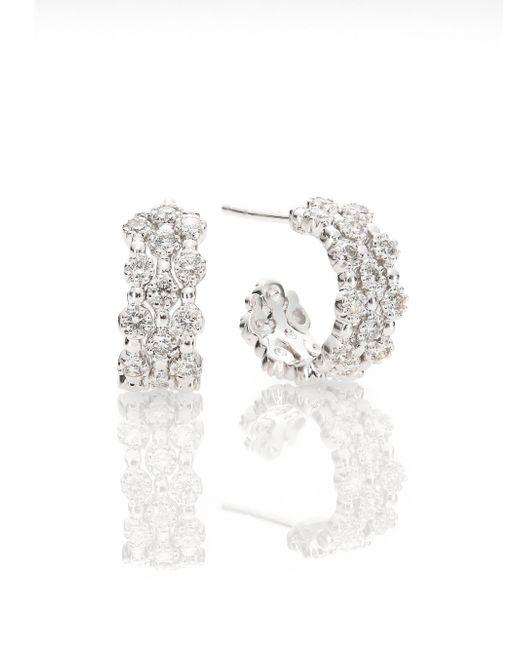 Kwiat | Metallic Stardust Diamond & 18k White Gold Huggie Hoop Earrings/0.65 | Lyst