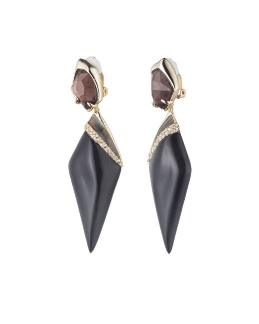 Alexis Bittar | Black Dangling Fancy Kite Stone Clip Earring You Might Also Like | Lyst