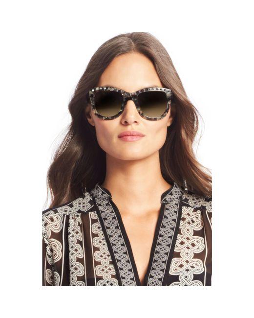 Diane von Furstenberg   Black Haley Studded Oversized Sunglasses   Lyst
