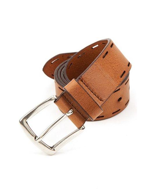 Trafalgar | Brown 'hampton' Leather Belt for Men | Lyst