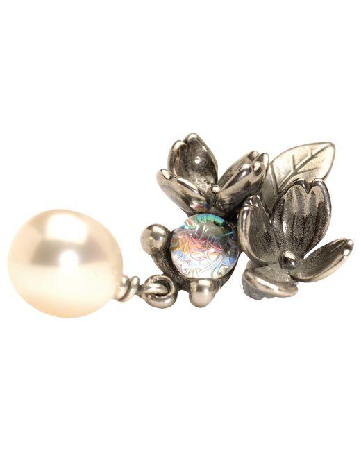 Trollbeads | Metallic Carolina Jessamine Flower Stud Earrings | Lyst