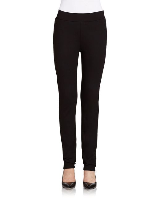 NYDJ | Black Denise Slim Cuffed Ankle Pants In Ponte Knit | Lyst