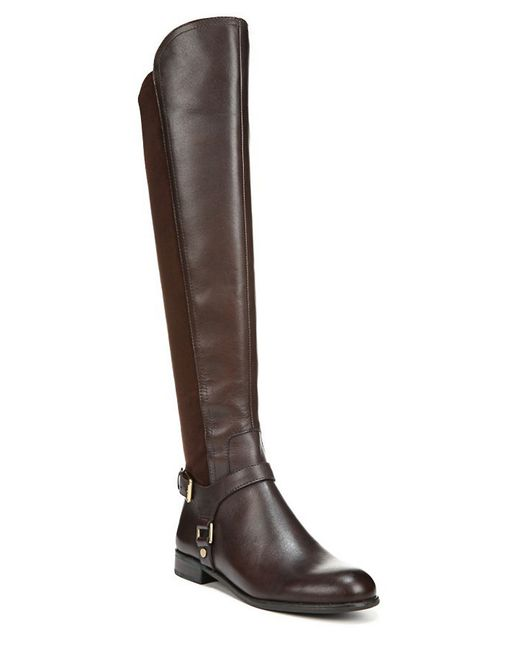 Franco Sarto | Brown Mast Leather Over-The-Knee Boots | Lyst