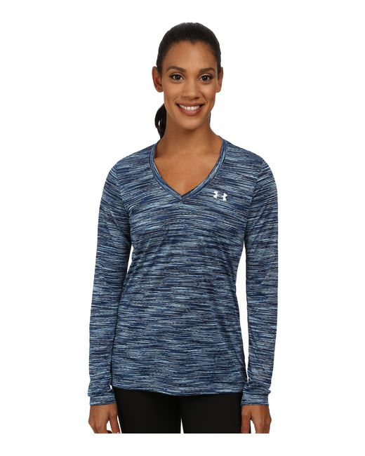 Under Armour | Blue Ua Tech™ Space Dye Long Sleeve | Lyst