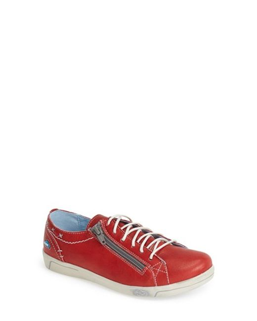Cloud | Red 'aika' Leather Sneaker | Lyst