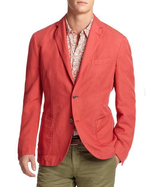 Slowear | Red Chinolino Sportcoat for Men | Lyst