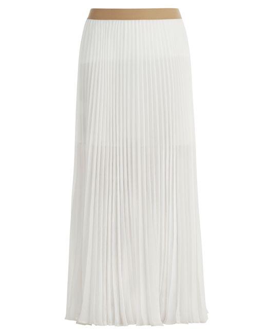 bcbgmaxazria esten sunburst pleated maxi skirt in white