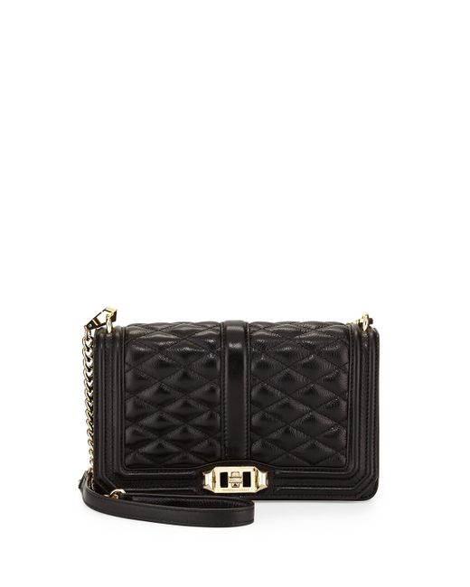 Rebecca Minkoff | Black Love Quilted Crossbody Bag | Lyst