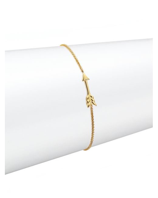 Roberto Coin | Metallic Tiny Treasures 18k Yellow Gold Arrow Bracelet | Lyst